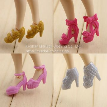 Fashion plastic doll Sandal shoes