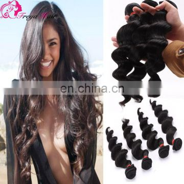 Wholesale peruvian 8A human hair remy hair loose wave hair bundle