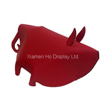 Ho Display Commercial Event Props Decorative Artificial Leather Red Piggy Display