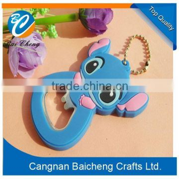 lovely cute cheap animal bottle openers with high quality of key ring accessory for handbags and clothes in cartoon sizes