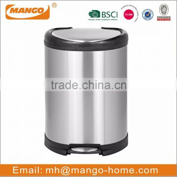 Square Stainless Steel garbage trash bin