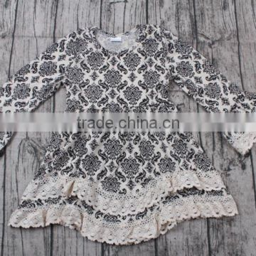 supplier kids clothing wholesale cotton lace dress frock design for baby girl