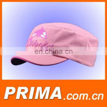 nice embroidery pink fashion caps and hats for girls