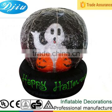 DJ-516 black inflatable happy halloween white ghost outdoor terror decorative airblown balls