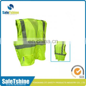 2016 The most competitive fluorescent polyester green safety vests