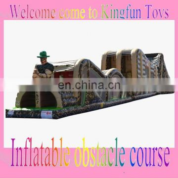 Soldier inflatable military obstacle course