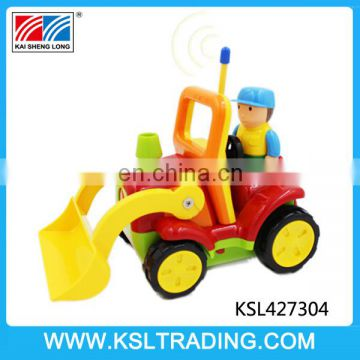 Nice design 2 channel cartoon rc truck including battery