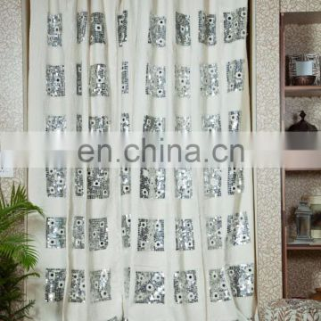 Home hotel decoration wholesale 100% cotton curtain for living room designer curtain