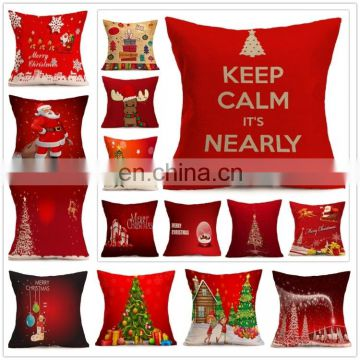 Dropshipping Christmas Festival Pattern Car Sofa Pillowcase with Decorative Head Restraints Home Sofa Pillowcase