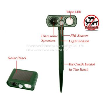 Solar Utrasonic Animal Dog Cat Repeller
