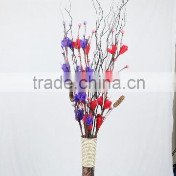 wholesale artificial dried flowers artificial handmade Dried rose plant natural plant with Willow Branches