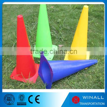 New Design Road warning lime green and blue color traffic cone