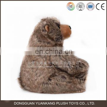Forest wild animal big size plush toy fur grizzly bear