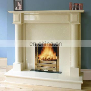 White Marble Fireplace with indoor