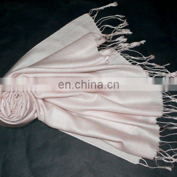 2015 wholesale white wedding shawl 70% wool 30% silk pashmina shawl (JDS-043 col.12#)