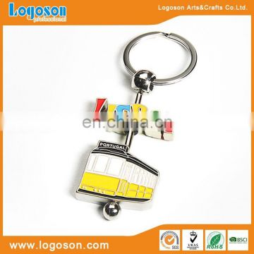 Loverly Praha spinning souvenir keychain metal name keychain