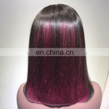 "2018 Hotbeauty Hair Straight 12"" wine red color"