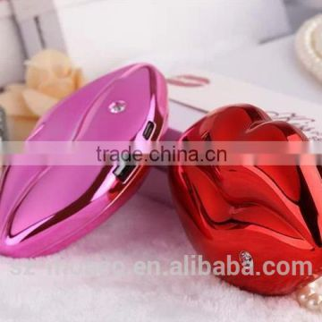 Fashion Sexy Lip Mouth Design cheap power bank 8800mAh