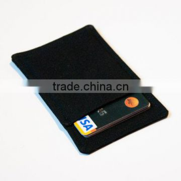 personal style black super thin card holder