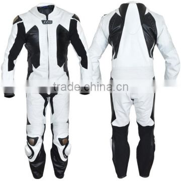 BIKER RACING MOTORBIKE LEATHER SUIT - CE APPROVED FULL PROTECTION