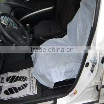 LDPE Plastic Disposable Car Seat Cover Ivory Color 500pcs Roll