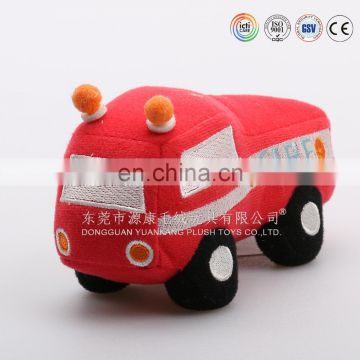 Custom kid toys plush fire fighting truck