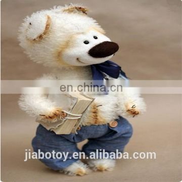 High quality Teddy bear with T-shirt and jeans ,Unique and speical teddy bear .customized stuffed toy