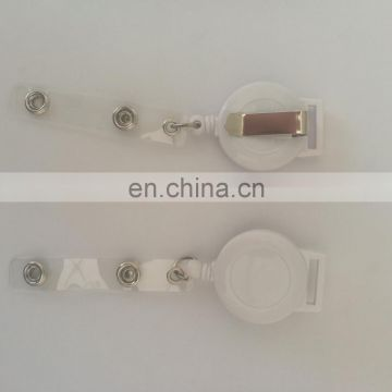 retractable plastic reel badge for 1.5cm lanyard