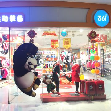 Ho display PVC Kung Fu Panda Props Window Display Visual Merchandising Props Supplier