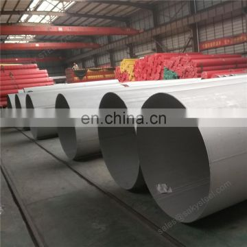 sch10s stainless steel welded large pipe tube 304L