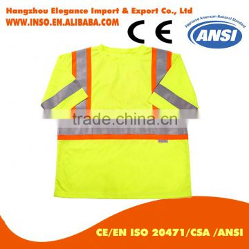 BIG SALE EN20471 ANSI/SEA 107 AS/NZS High visibility two tone safety reflective clothing hi vis shirt