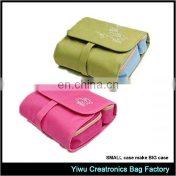 2015 new hot sell ladies travel canvas cosmetic bags
