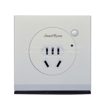 Smart Wall Socket Plug with mobile remote control for smart home automation system through China Wulian Zigbee protocol