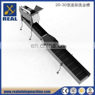 Gold sluice box for gold washing plant