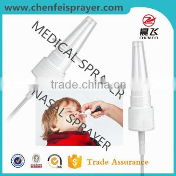 Use in bottle fine mist sprayer decongestant nasal mist spray pump in any color and also can be custom