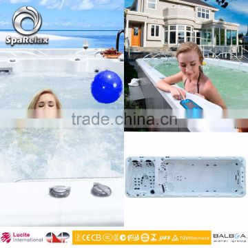manufacture above ground swimming pool for 8 person swim pool with hot tub spa ladder