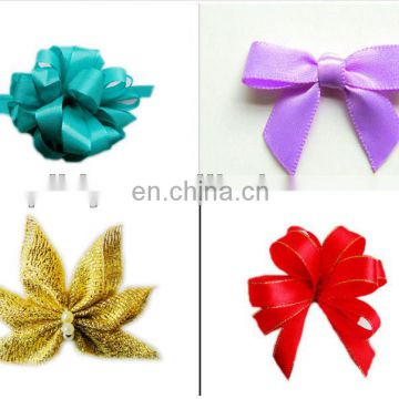 satin tie bow by hand