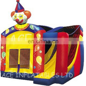 2017 New Design commercial inflatable clown combo/castle with high quality