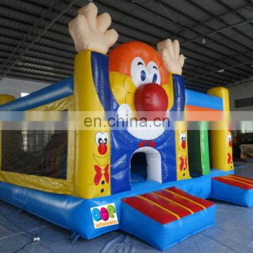Combination inflatable bouncer slide, Carnival Game inflatable clown