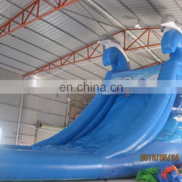 Cheap price beautiful inflatable PVC water slide WS058