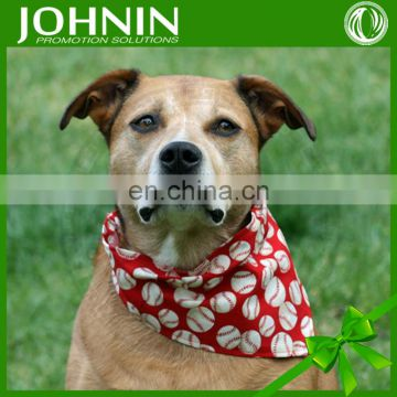 OEM online shopping site custom print logo triangle dog bandanas