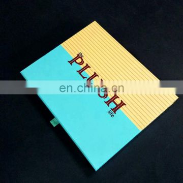 Handmade custom clothes packaging box with velvet inside luxury clothing packaging box