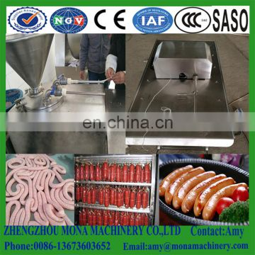Smoked sausage production line /pork fish meat sausage making machine