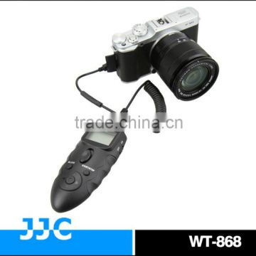 JJC Dual LCD Display WT-868 2.4G versatile RR-90 wireless timer remote control & wired remote switch For FUJIFILM XQ1 X-A1 etc