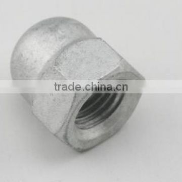 Carbon steel Hexagon domed cap nuts DIN1587 Hot dip galvanized