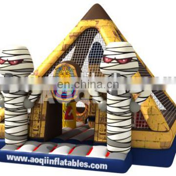 2015 AOQI new design famous mysterious pyramid inflatable bouncer AQ01393