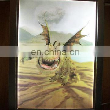 Rosh and CE approved Custom New Promotion 3d lenticular shadow box led light kitManufacturer