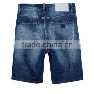 jeans factory guangzhou funky jeans for men New model men straight ripped patch denim jeans shorts half pants                                                                                                         Supplier's Choice