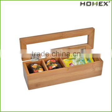 Hot Classical Customize Make Wooden Bamboo Chinese Tea Gift Box With Bamboo Lid/Homex_Factory