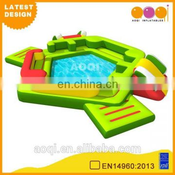 2015 AOQI latest design commercial use green inflatable mini pool for sale
